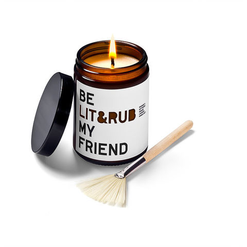 Be,Lit,&,Rub,My,Friend,-Scented,Massage,Candle