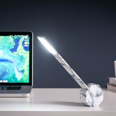 Octagon One Desk Lamp - Marble - product images  of