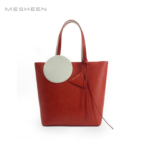Mesheen,x,DamoWang,shopper,bag,-,Red