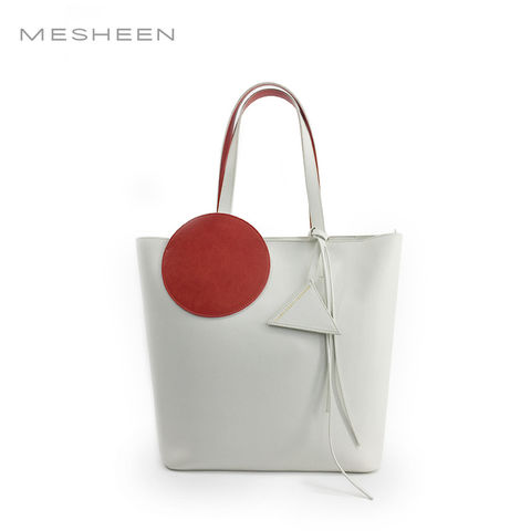 Mesheen,x,DamoWang,shopper,bag,-,White
