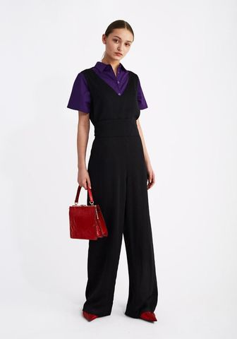 Black,Jumpsuit,with,belt
