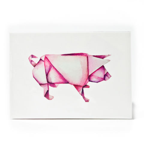 Pig,Postcard,with,Sticker