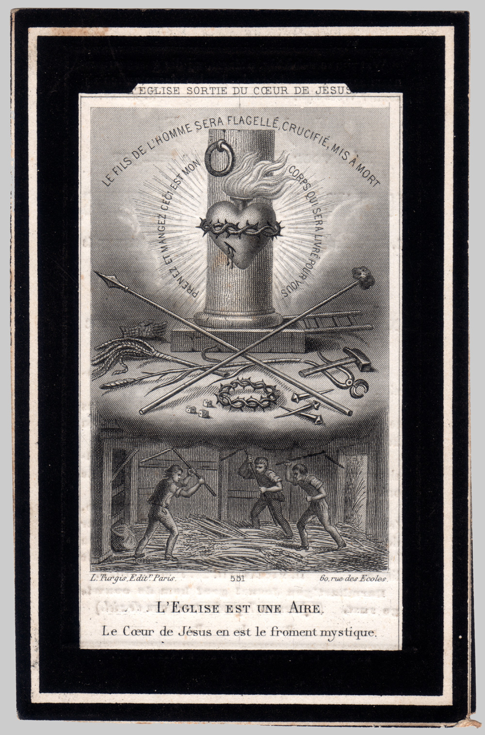 Engraved Image on Funeral Card 'The Sacred Link '