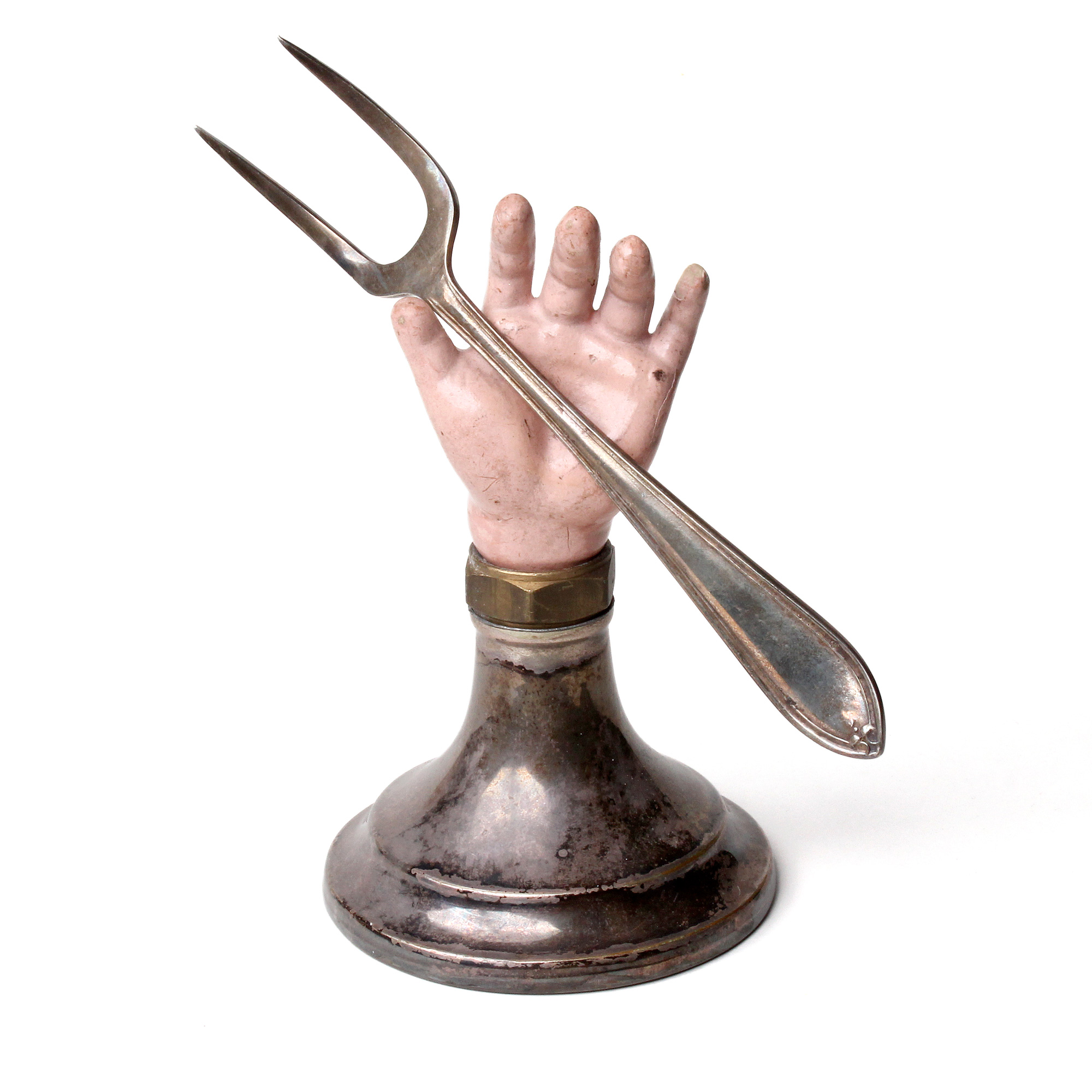 Hand Fork Sculpture by Anastasia Young Jewellery for The Lily Holds Firm