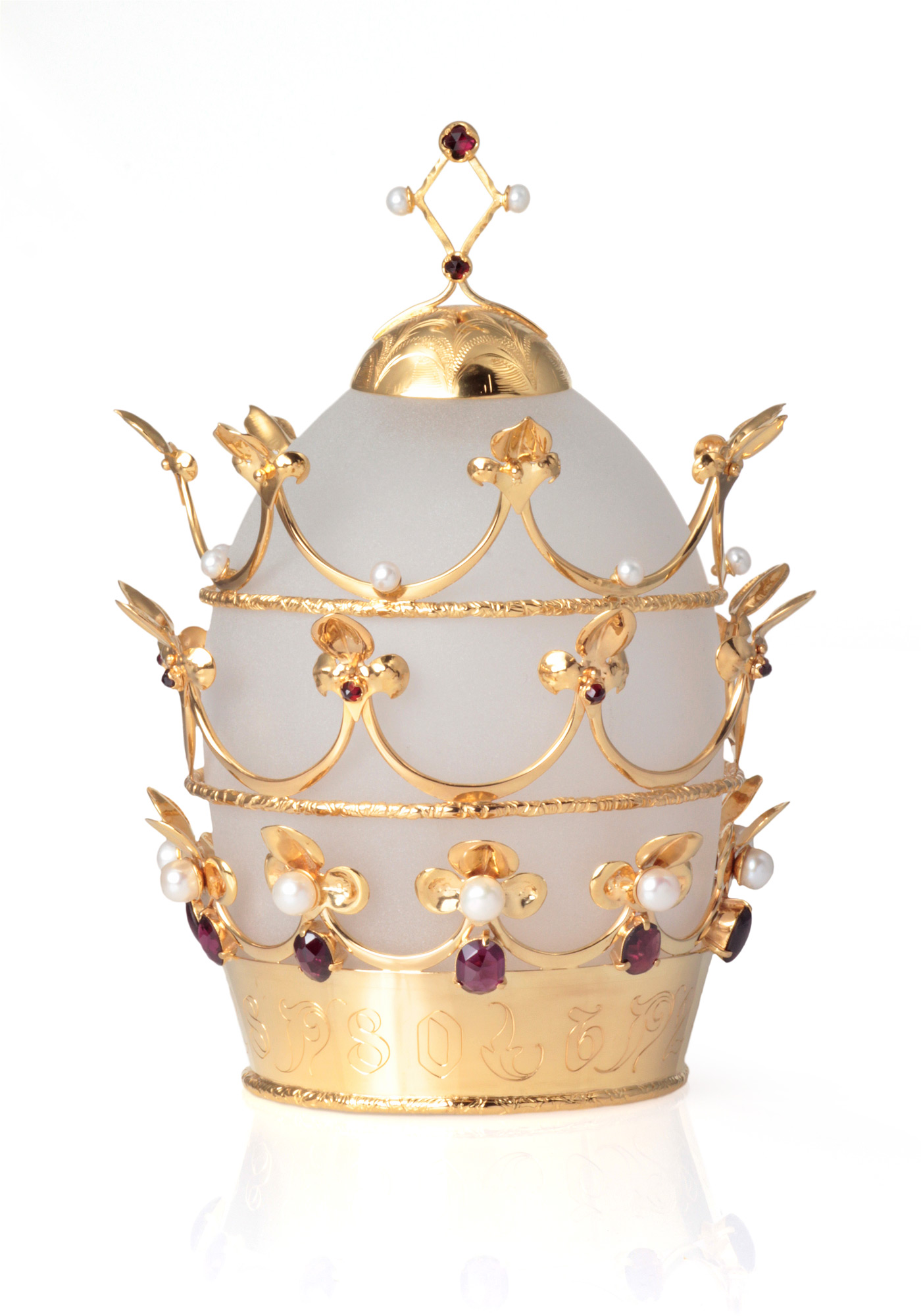 Papal Tiara by Anastasia Young Jewellery for The Lily Holds Firm