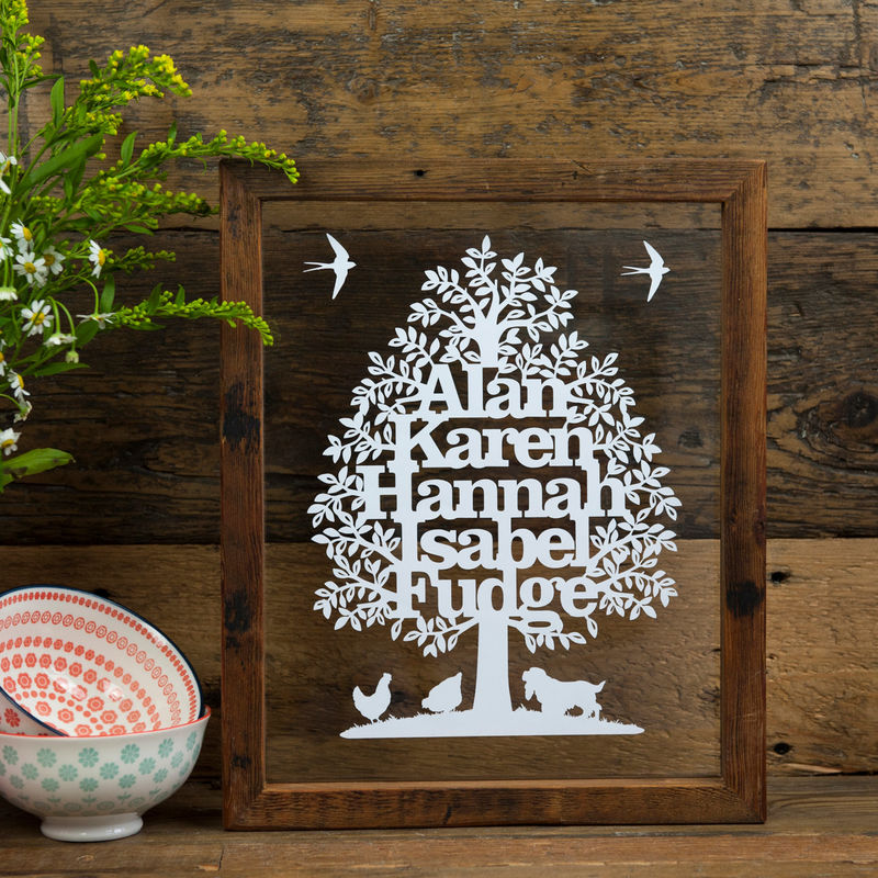 Family Tree Personalised Papercut - product image
