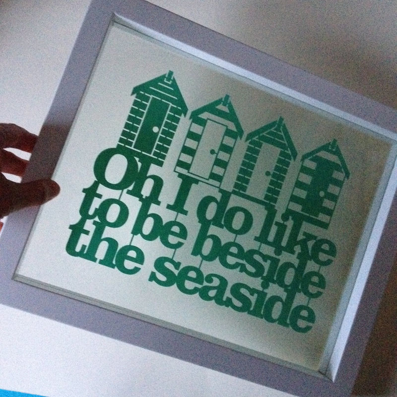 Beside The Seaside Papercut - product image