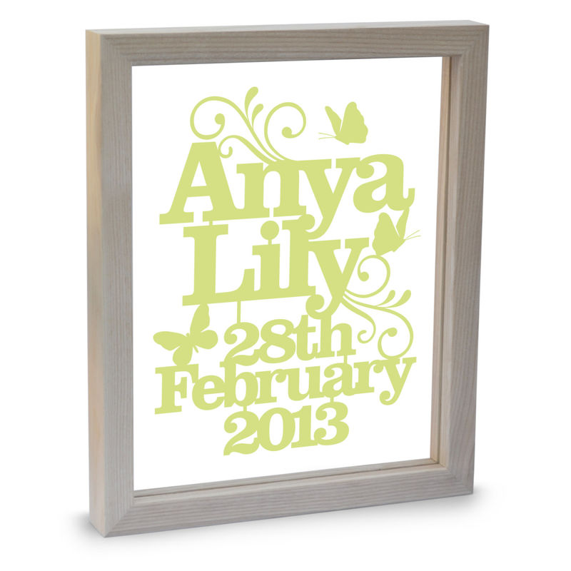 New Baby Name Papercut - product image