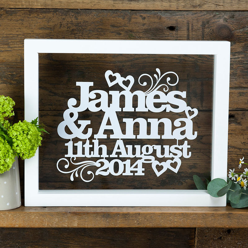 Personalised Wedding or Anniversary Papercut - product image
