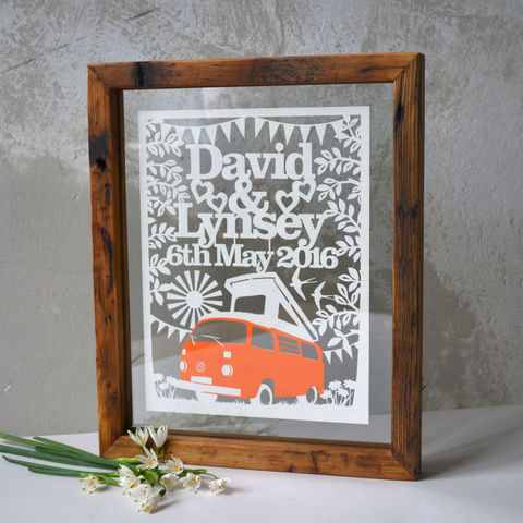 Personalised,Boho,Wedding,Papercut,boho wedding, cool wedding, campervan, camper van wedding, yurt wedding, wedding camper, wedding teepee, tent, bell tent