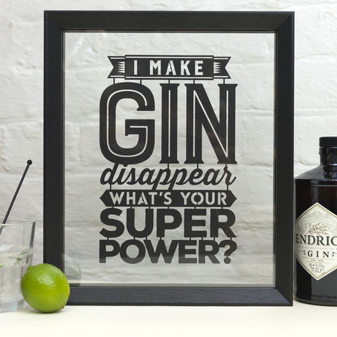 'I,Make,Gin/Beer/Wine/Cider/Cheese,Disappear',Papercut,I make gin disappear, super power, gin, beer, wine, cider, cheese, Kyleigh's Papercuts, papercut, typographic
