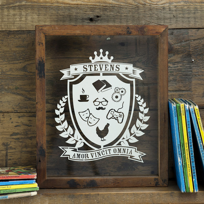 Personalised Family Coat Of Arms Papercut - product image
