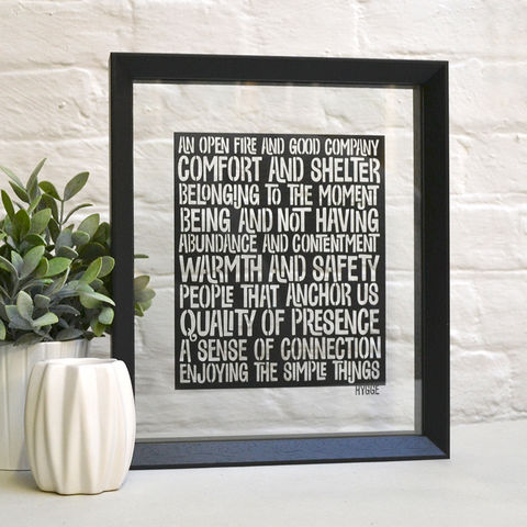 Enjoy,the,small,things,Hygge,Papercut,hygge, cosy, paper cut, papercut words, papercuts, danish, typography, typographic