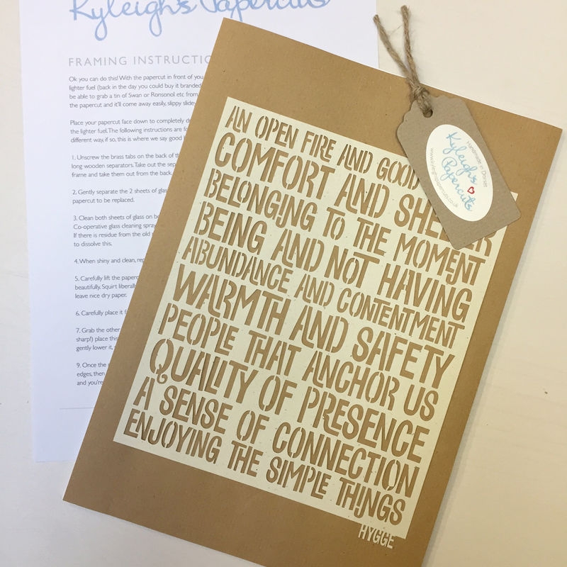 Enjoy the small things Hygge Papercut - product image