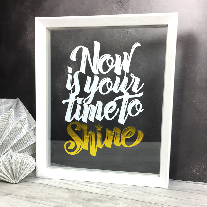 'Now Is Your Time To Shine' Papercut - product image