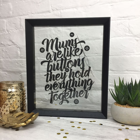 Mums,Are,Like,Buttons,Papercut,mothers day, papercut, paper cut, limited edition, mum, gran, nan, granny, grandma