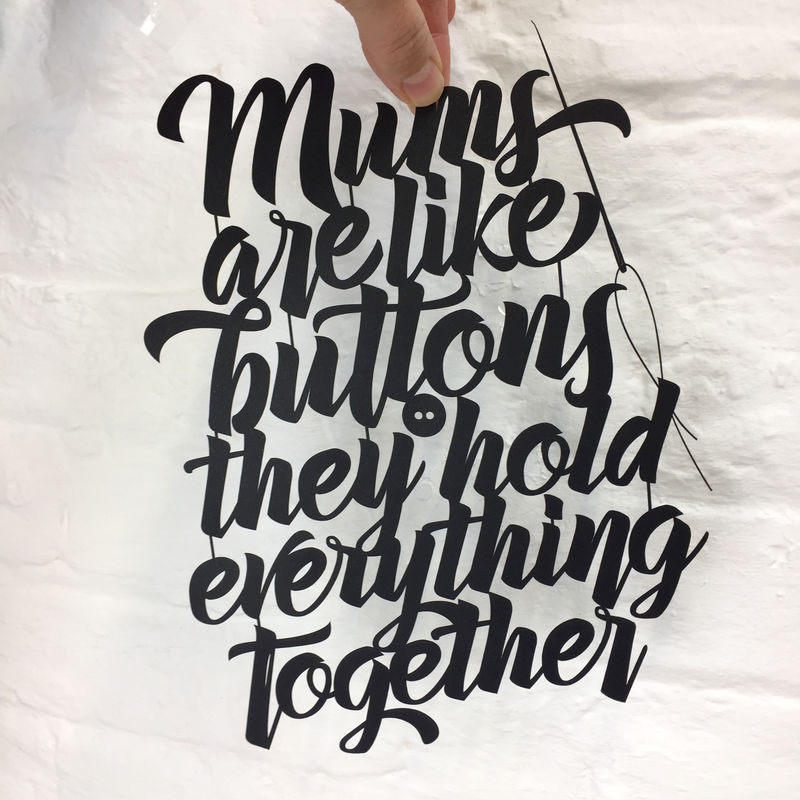 Mums Are Like Buttons Papercut - product image