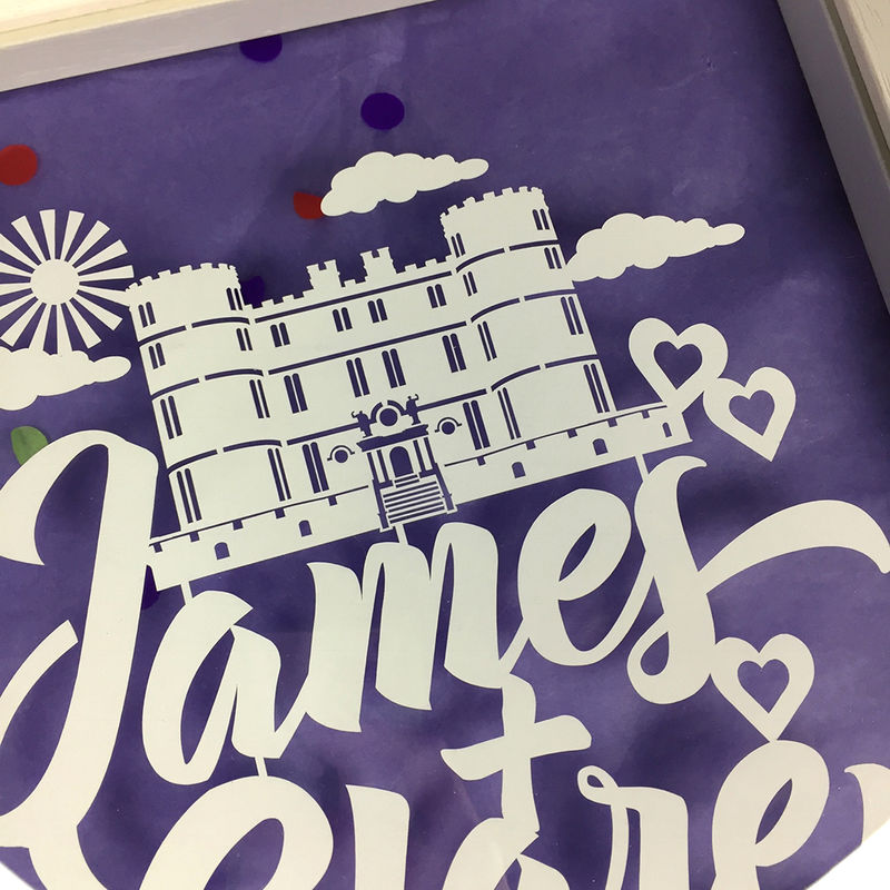 Personalised Wedding Venue Papercut - product image
