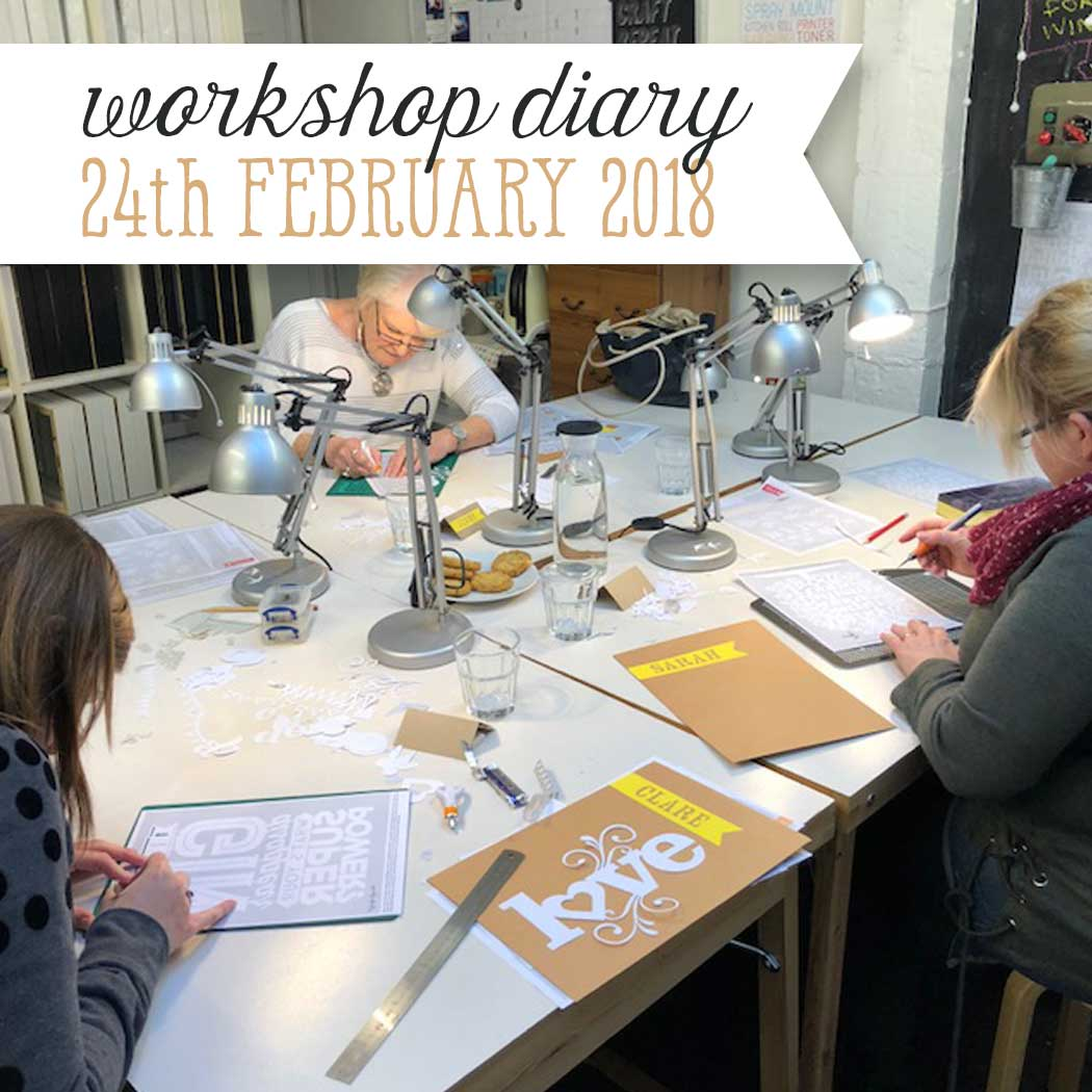 Workshop Diary 24th February 2018