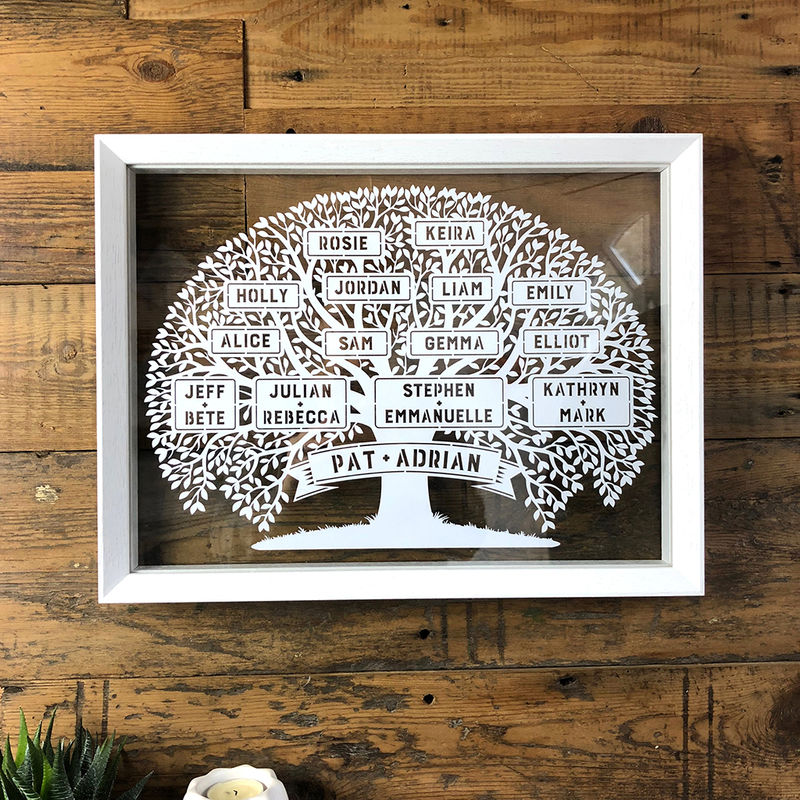 Large Family Tree Papercut - product image