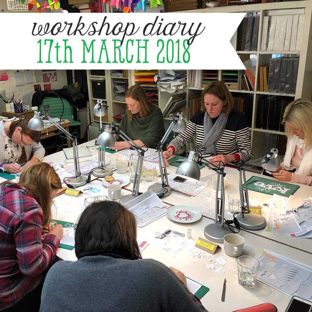workshop diary 17th march 2018