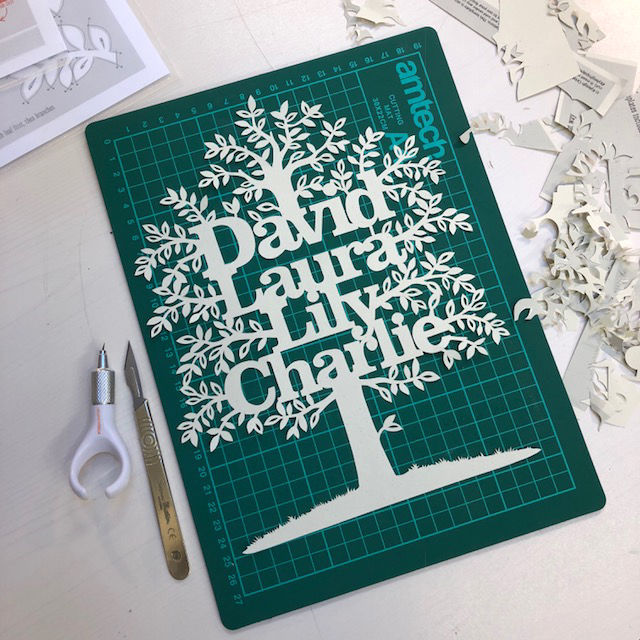 Gift Voucher - Family Tree Papercut Workshop - product image