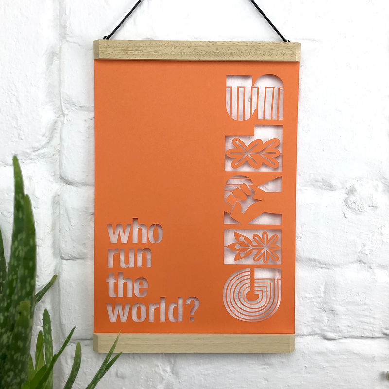 Who Run The World Girls A4 Papercut - product image