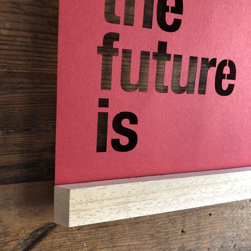 The Future Is Female A4 Papercut - product image