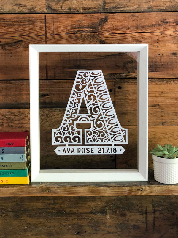 Personalised Monogram Papercut - product image