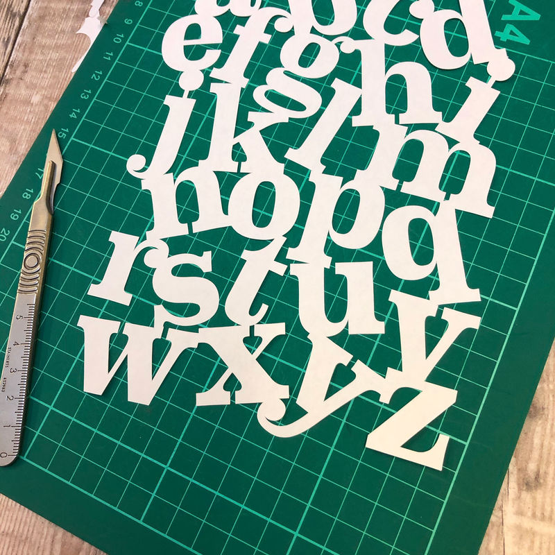 Alphabet Papercut Template PDF - product image