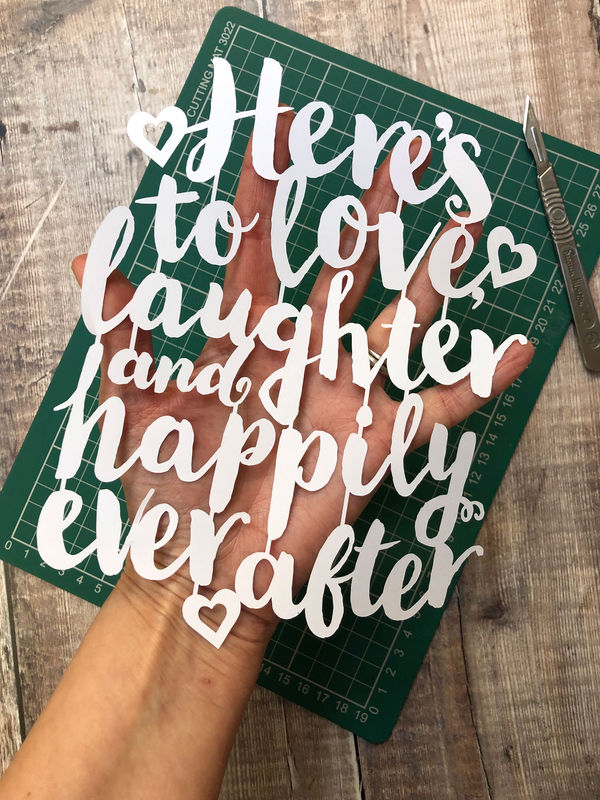 Love Laughter, Happily Ever After Template PDF - product image