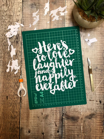 Love,Laughter,,Happily,Ever,After,Template,PDF,download, template, pdf, cut at home, love, laughter, happily ever after, isolation, craft, papercut, papercraft