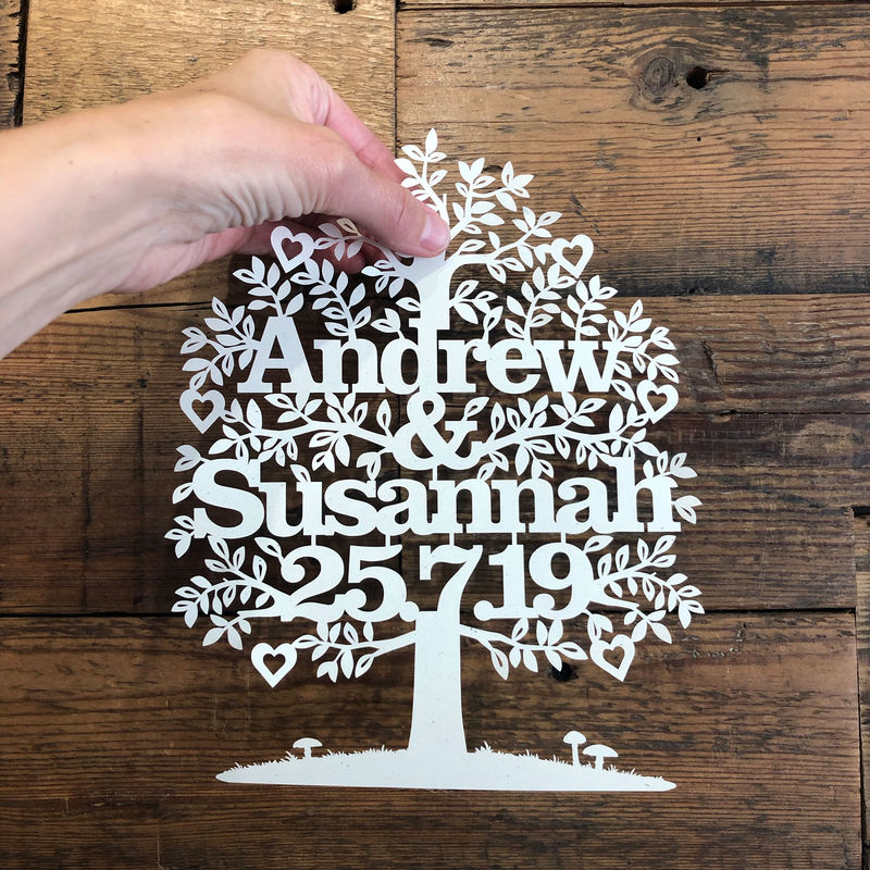 Wedding Tree Papercut Template PDF - product image
