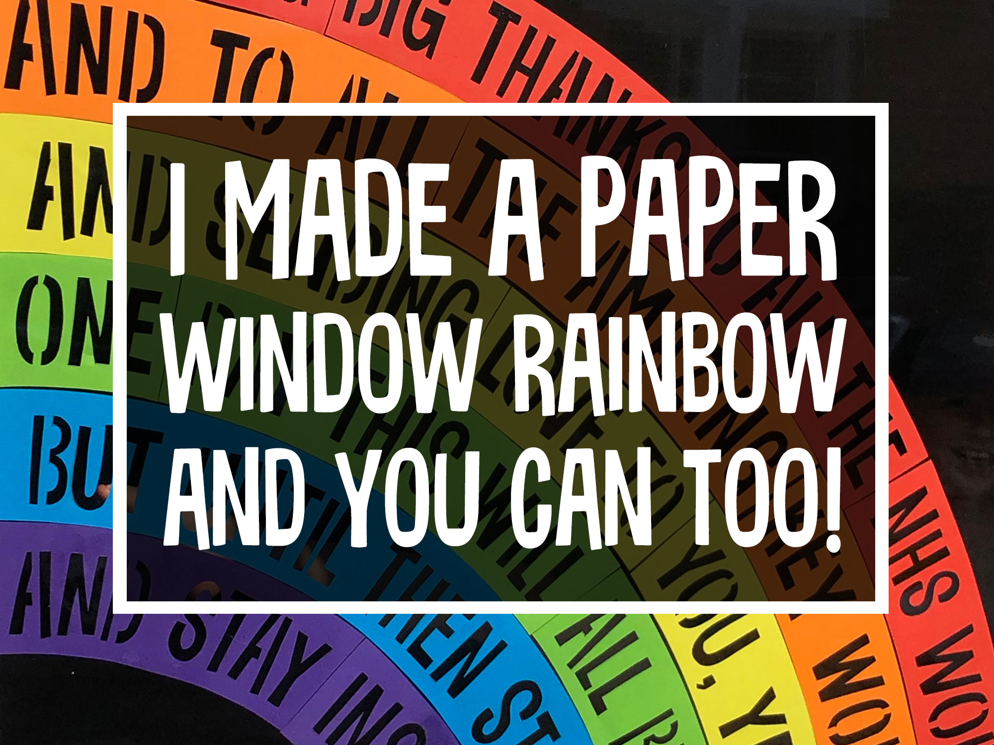 Window Rainbow FREE template to cut or colour