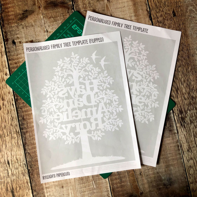 Family Tree Papercut Template PDF - product image