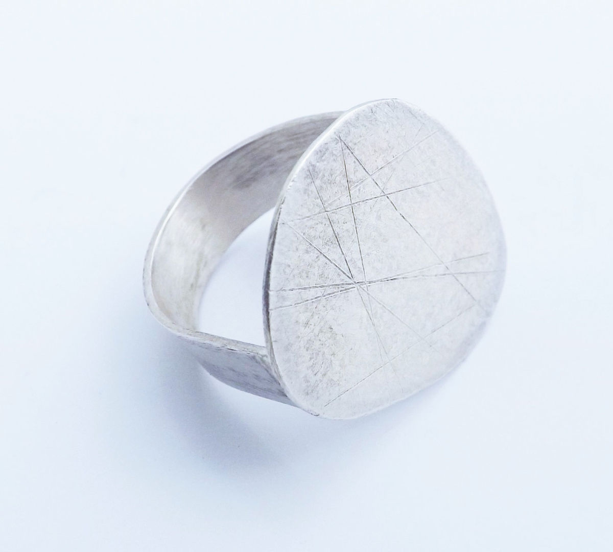 large silver pebble ring - product image