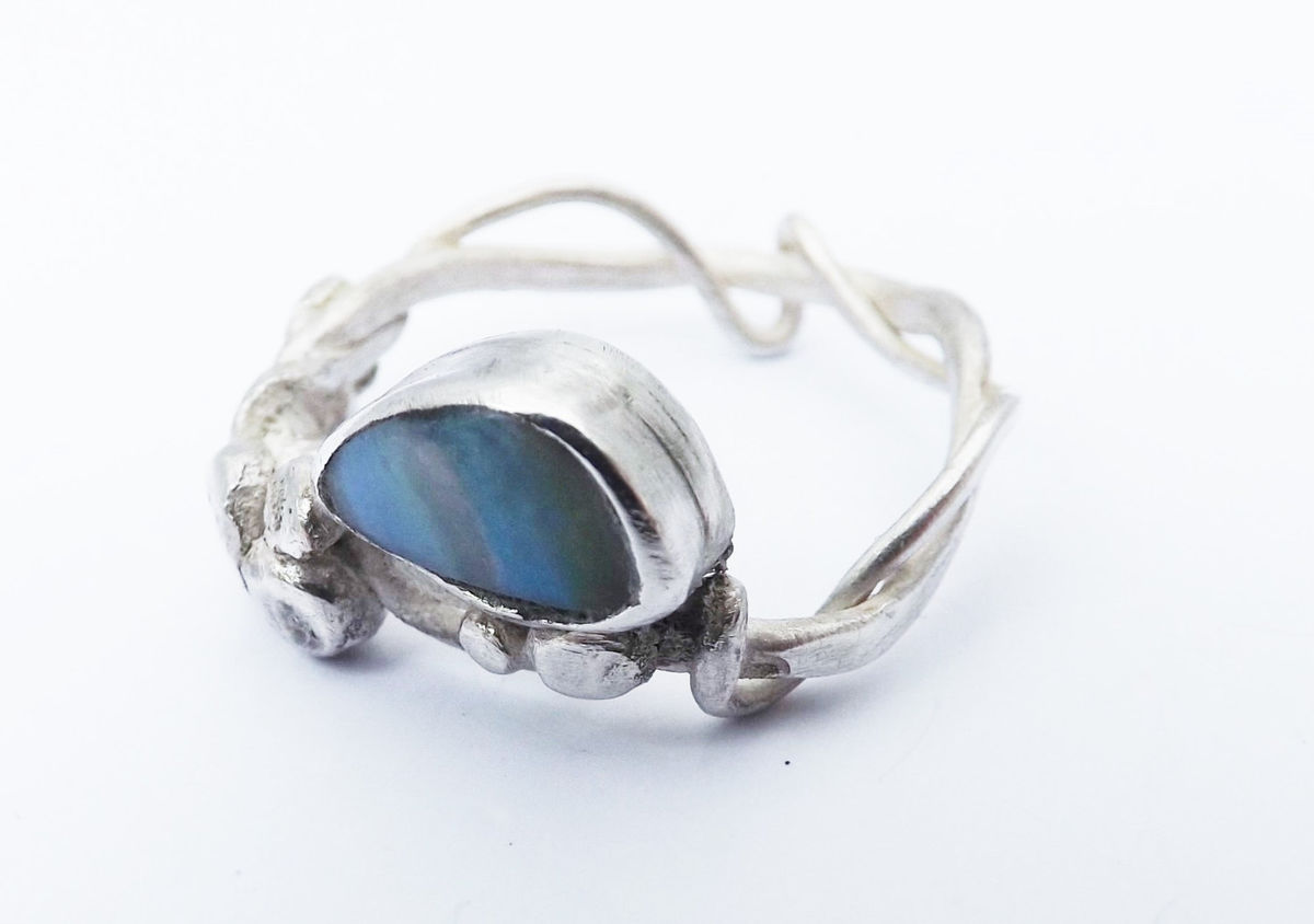 boulder opal branch ring - product image