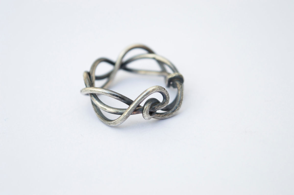 woven silver branch ring - product images  of
