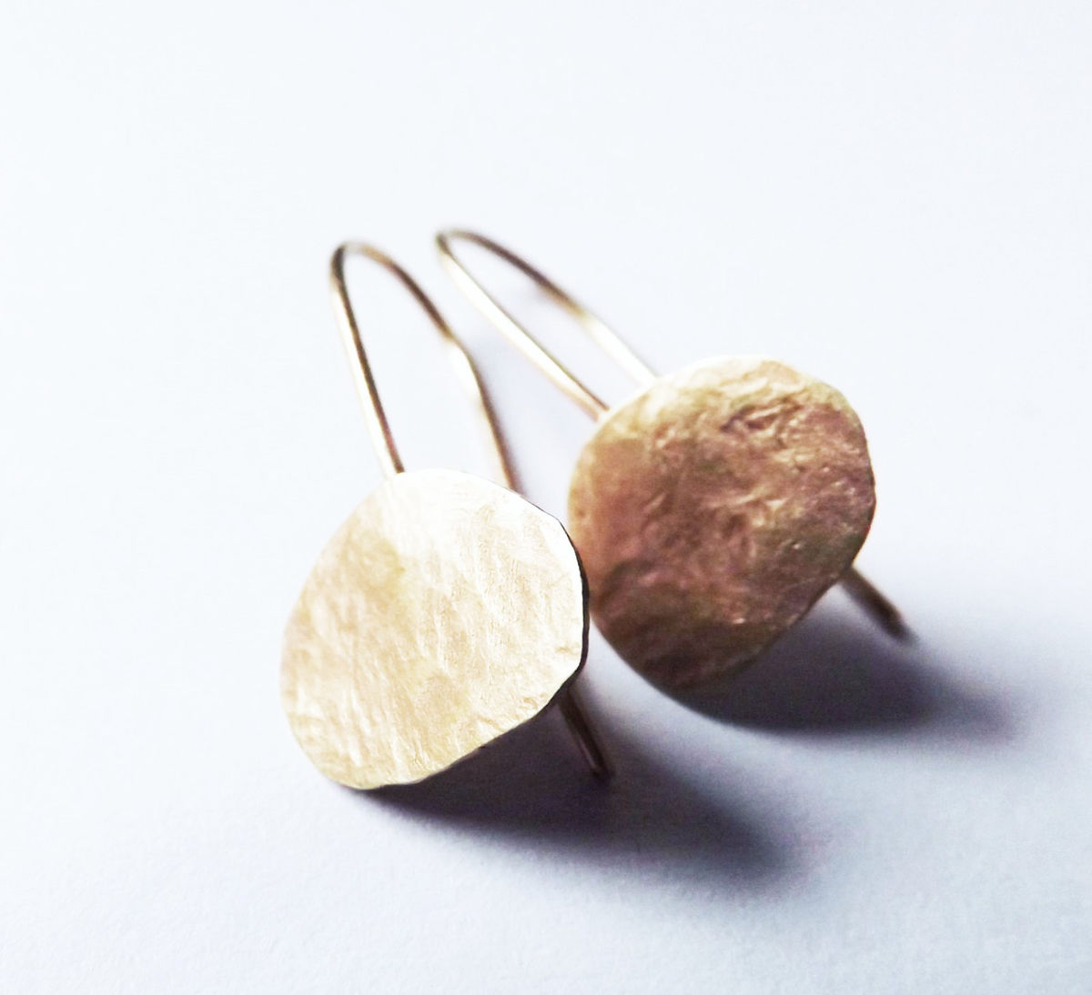 9ct gold pebble earrings - product image