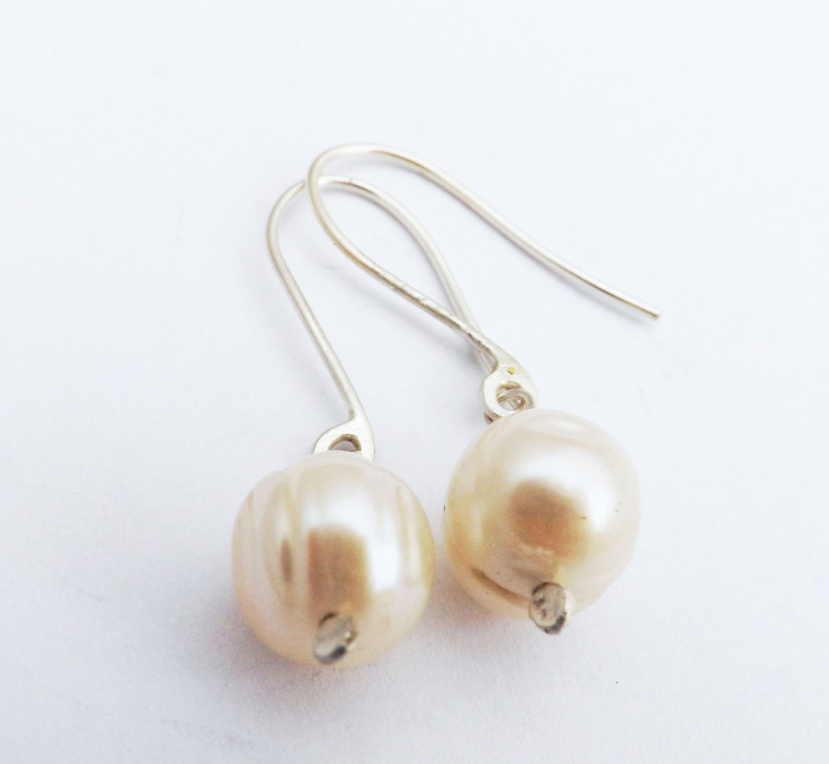 freshwater pearl drop earrings - product images  of