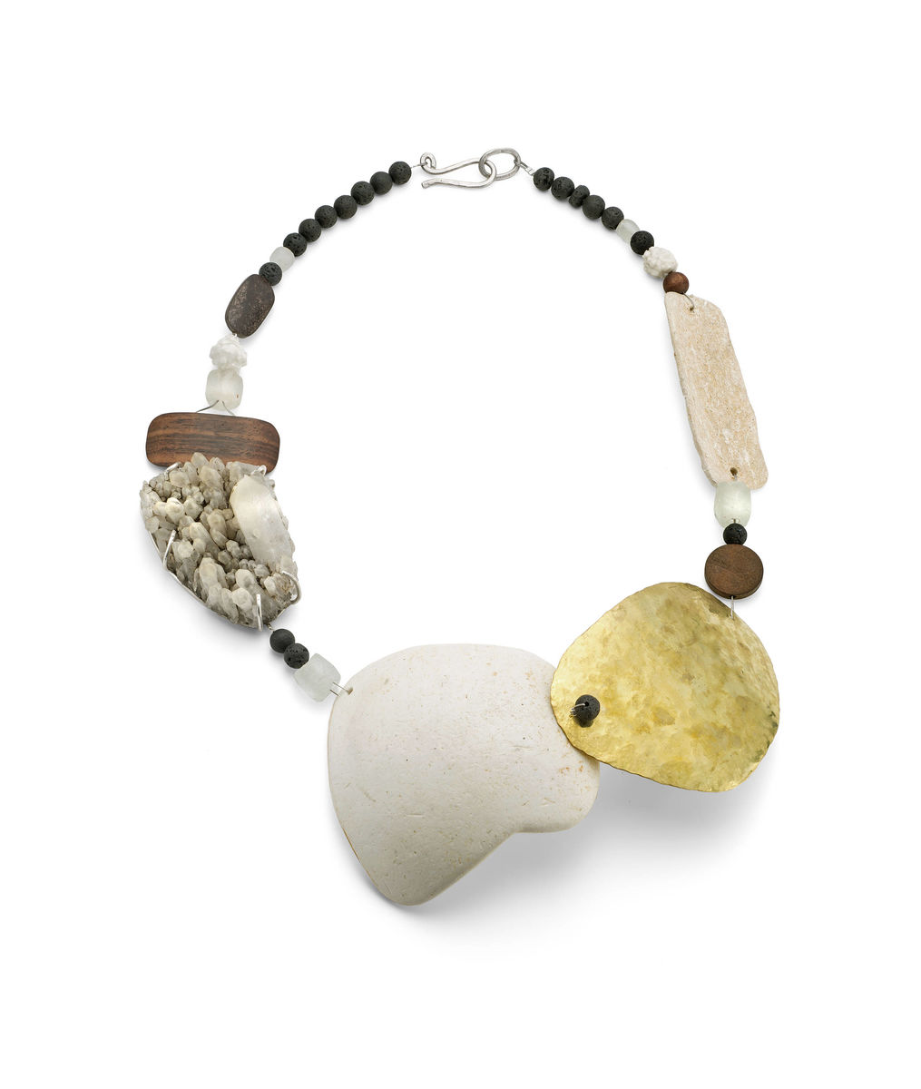 statement beach plastic collage necklace - product images  of