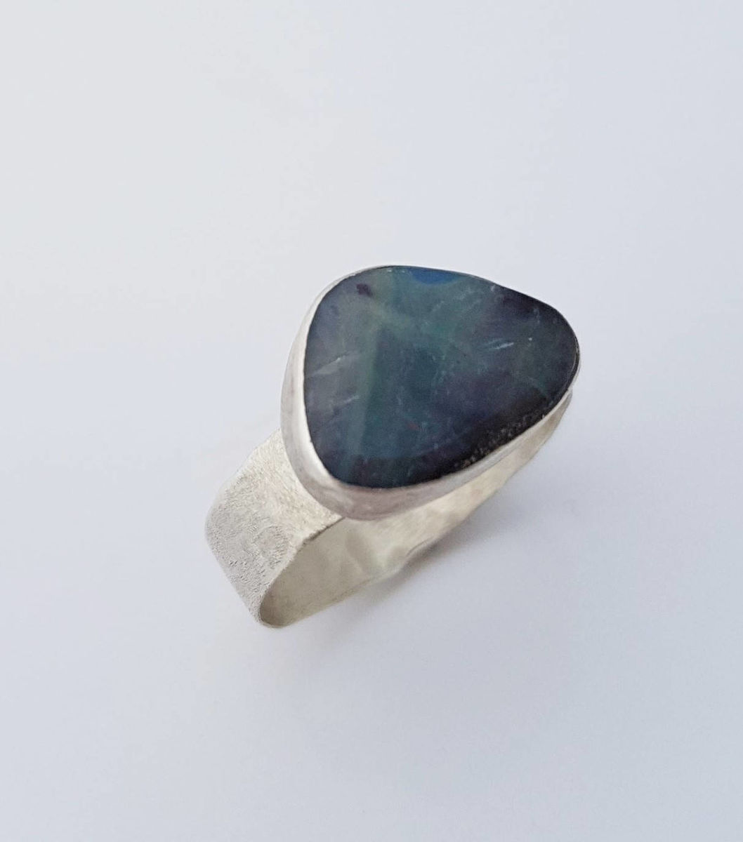 large boulder opal ring - product images  of