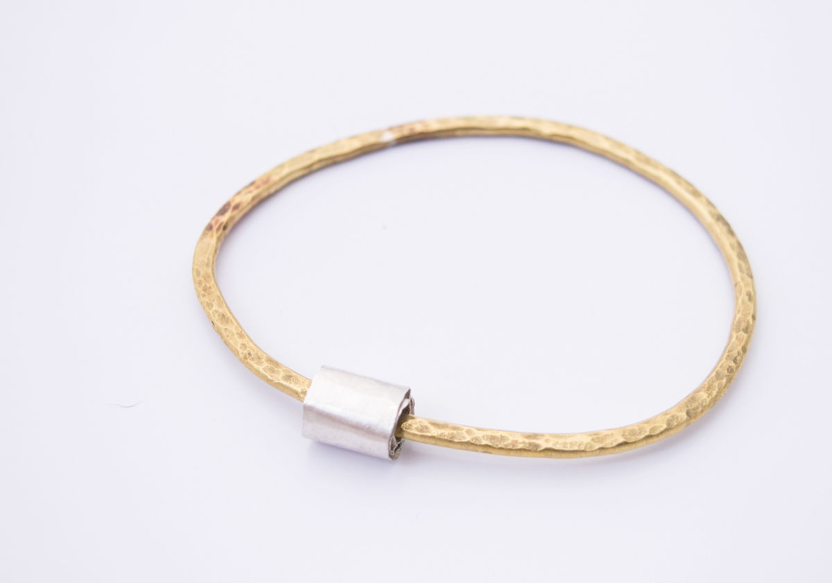 hammered heavy bangle - product images  of
