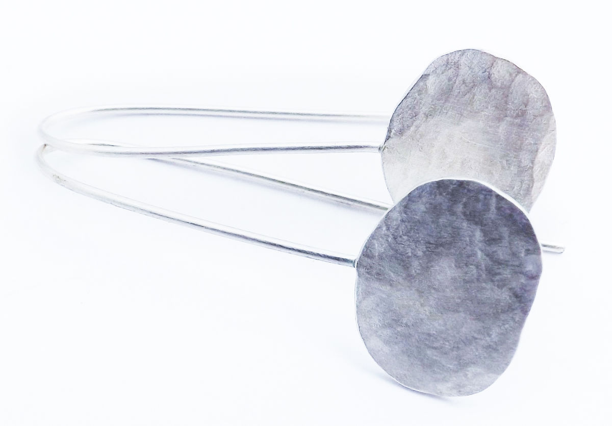silver pebble earrings - product images  of