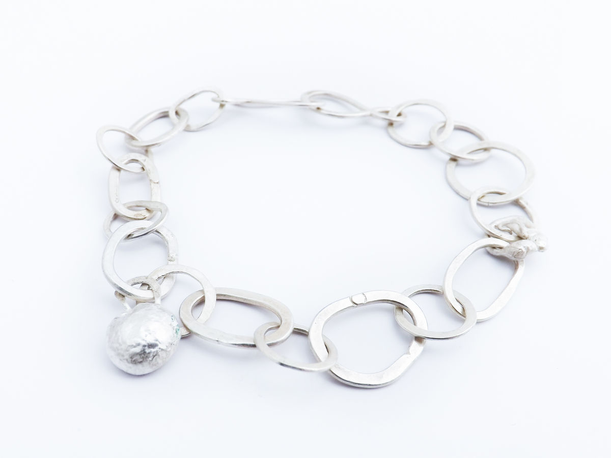 handmade silver chain bracelet - product image