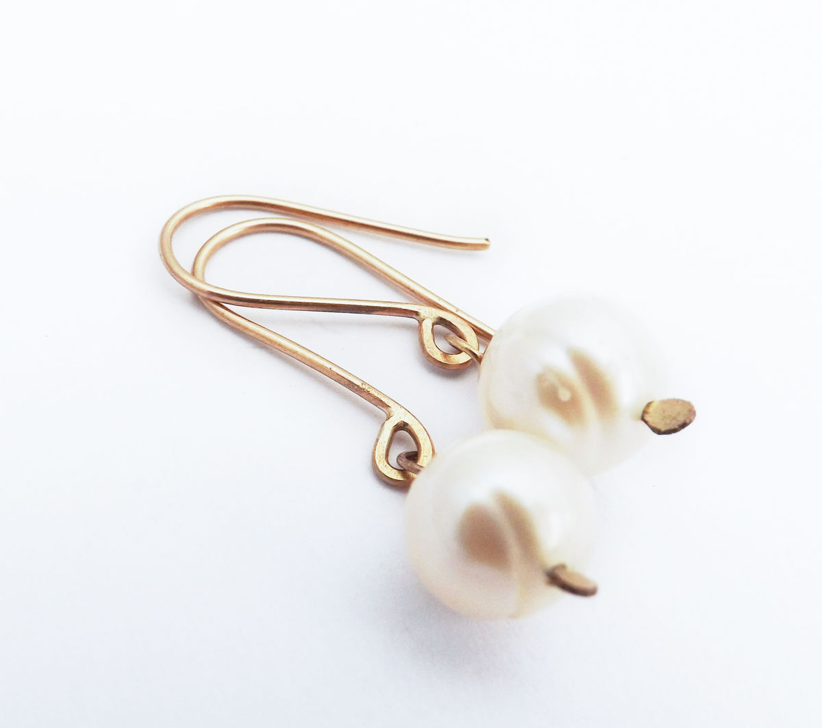 freshwater pearl drop earrings - product image