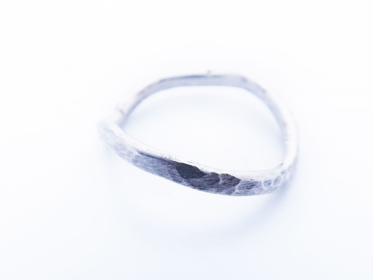 silver stacker wave ring - product image