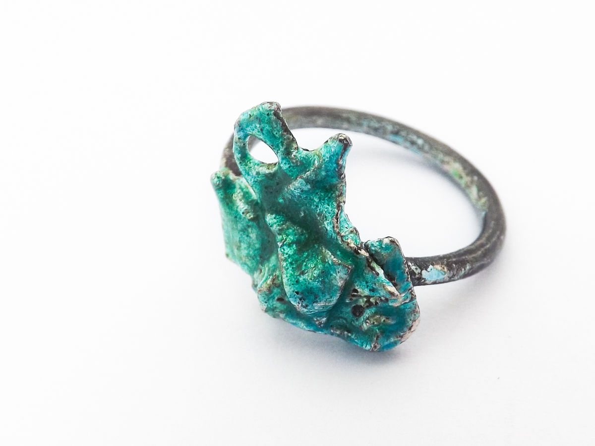 enamelled silver ring - product image