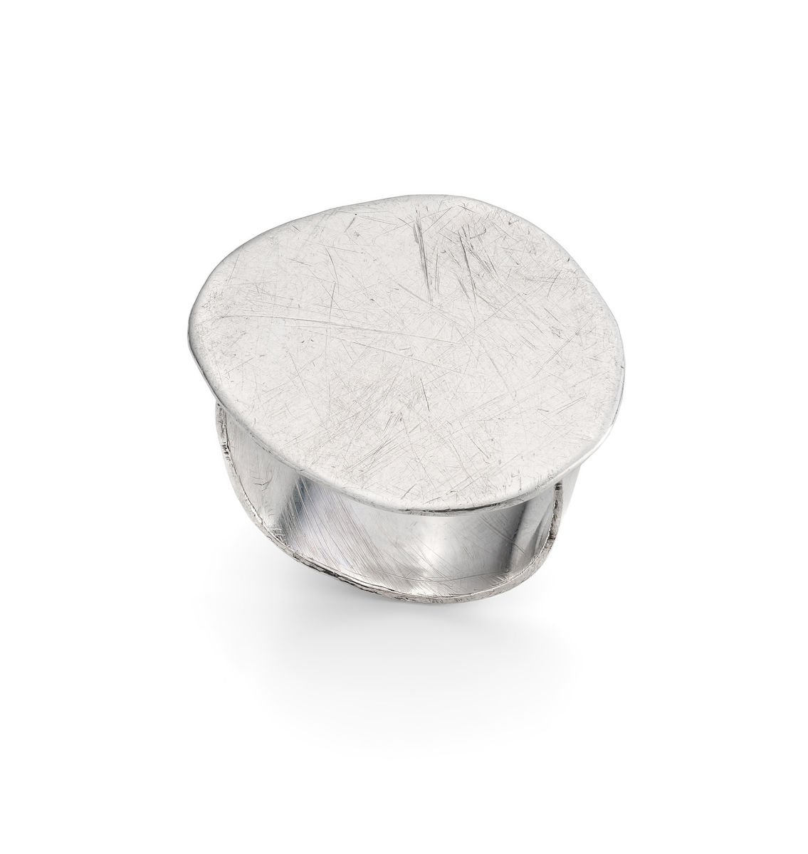 large silver pebble ring - product images  of