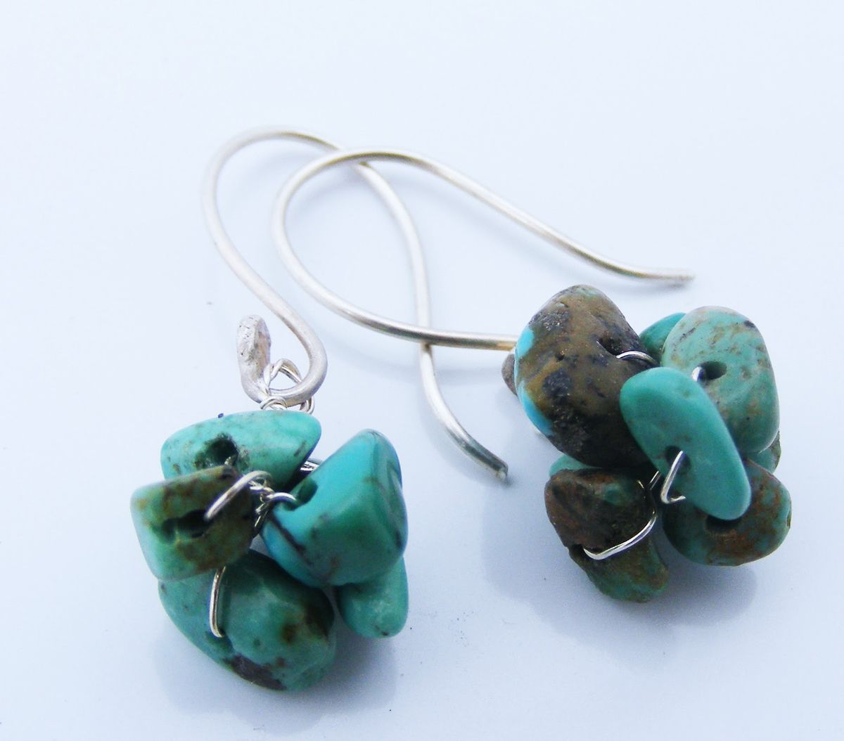 turquoise cluster earrings - product image